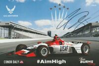 2018 Conor Daly signed U.S. Air Force USAF Honda Indy 500 Indy Car postcard