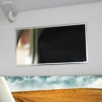 Car Interior Mirror Sticky Adhesive Back Stainless Cosmetic Visor Makeup Mirrors