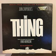 The Thing Soundtrack by Ennio Morricone 1982 Vinyl MCA Records Promo 10 Rare OOP