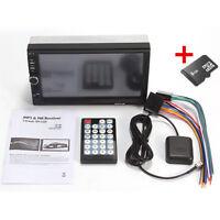 HD Car MP5 Player 7'' 2DIN Touch Screen TFT Monitor AM/FM GPS Navigation 8G Card
