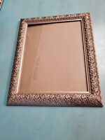 Antique 14x17 Large wood  Silver  Picture Frame vintage