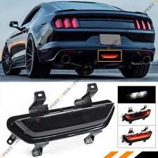 For 2015 17 Mustang Dark Tinted F1 Strobe Flow Led Rear Reverse Fog Brake Lights Fits Mustang
