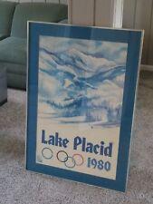 Vintageg Original Lake Placid 1980 Winter Olympics Framed Poster John Gallucci