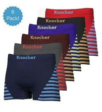 6 Mens Microfiber Boxer Briefs #MS34 Underwear Compression Knocker One Size