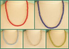 """10 PCS  22"""" Handmade Beaded Rope Chain Necklace WHOLESALE LOT 5 Colors"""