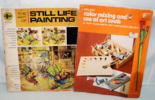 Vintage Art Instruction Books Color Mixing Use of Art Tools Still Life Painting
