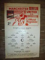 1966/67 Football Programme: Manchester Utd Res. v Manchester City. Res. 20th Jan