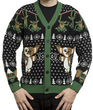 Gremlins Mondo Holiday Christmas Ugly Sweater Mens Cardigan NEW All Sizes Avail