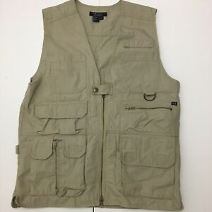 511 5.11 TACTICAL VEST Men's M MEDIUM Conceal Carry Hunting Shooting Khaki Tan