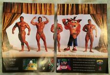 Crash Bandicoot 2 Poster Ad Print Playstation