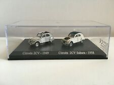 Miniature voiture 1/87 Citroën 2CV 1949 + Citroën 2CV Sahara 1958