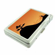 Samurai Sunset Em1 Cigarette Case with Built in Lighter Metal Wallet