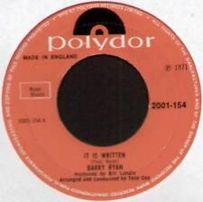 """[PAUL RYAN] BARRY RYAN ~ IT IS WRITTEN / ANNABELLE ~ 1971 UK 7"""" SINGLE [Ref.2]"""