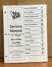 JCB Service 3CX 4CX 214E 214 215 217 VARIANTS Manual Repair FAST SHIP PRIORITY