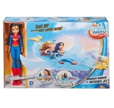 DC Super Hero Girls Wonder Woman Doll & Invisible Jet Plane playset BRAND NEW