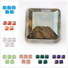 2 Style 14mm Faceted Square Spacer Beads Crystal Glass Jewelry Making Bead 10Pcs