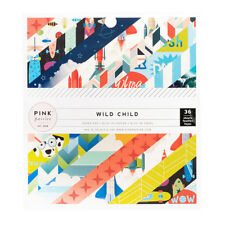 """Pink Paislee 6x6 Paper Pad """"Wild Child Boy"""" American Crafts 36pc Planner Tags"""