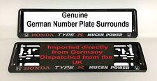 Honda Type R Mugen Power Number plates Surrounds Pair