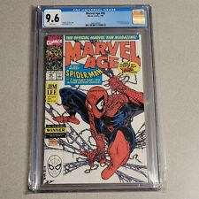 Marvel Age 90 CGC 9.6 Todd McFarlane Cover SpiderMan 1 Preview Jim Lee interview