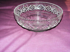 "Stuart   Crystal  Cut  Glass  Bowl  Diameter  9""  Inches   Height  3.3/4"" Inches"