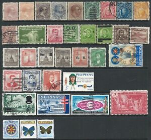 Philippines Small Collection of 72 Mostly Good Used Stamps but a few Hinged Mint