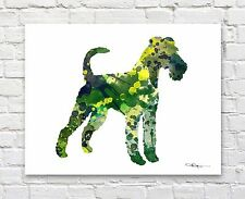 "Irish Terrier Abstract Watercolor 11"" x 14"" Art Print by Artist Dj Rogers"
