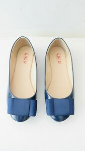 Lulu Made With Love Women's Shoes Flat Heel Blue Comfort Round Toe Shoes Size 37