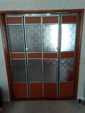 Bi folding lounge interior doors with perspex