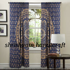 Bohemian Elephant Mandala Curtain Door Cover Indian Hippie Window Curtains Drap