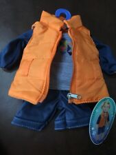"My Life Boy 18"" doll Clothing Orange Vest Outfit"