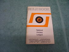 1974-1975 NATIONAL HOCKEY LEAGUE OFFICIAL RULE BOOK NHL