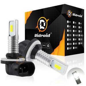 Pair 881 LED Fog Light Driving Bulbs 862 886 889 894 896 898 Xenon White 6000K