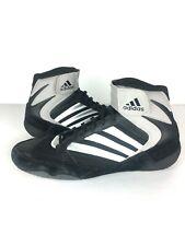 Adidas Men's Wrestling Shoes Black Suede w/ Elastic Ankle Strap Sz 7US EUC