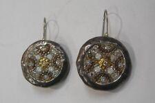 925 Sterling Silver Orit Schatzman Inlay Pierced Dangle Earrings Colorful 486-J