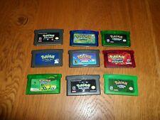 9 Pokemon Game Bundle - Gameboy Advance GBA - GOOD CONDITION - FREE P&P