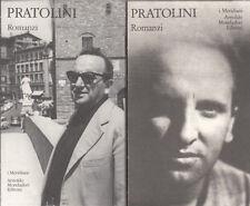 PRATOLINI VASCO ROMANZI I MERIDIANI MONDADORI 1993 I DUE VOLUMI LETTERATURA