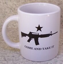 Coffee Mug Patriotic 2nd Amendment Come & Take It New 12 ounce cup with gift box