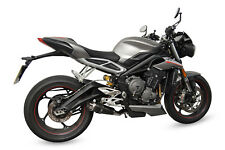 Triumph Street Triple 765 (2017) SP Engineering Carbon Stubby Moto GP Exhaust