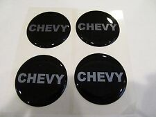 Chevy Block Lettering Wheel Rim Center Decal Sticker 43MM Set of 4