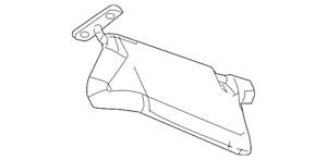 Genuine GM Sunshade Asm  Opel Gray 15213196