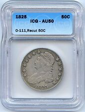 1825 O-111 Capped Bust Silver Half Dollar. ICG Graded AU 50. Lot #2122