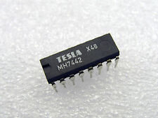 5x MH7442 4-Line BCD to 10-Line Decimal Decoder, SN7442 IC NEW, Tesla