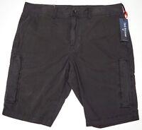 NWT $149 True Religion Cargo Zippered Shorts Mens 32 36 Black Cotton NEW Officer