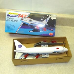 Vintage Boeing 747 Jet Plane In Box, Pan Am, Battery Operated, Plastic, ISI Toys