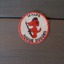 "VIETNAM WAR PATCH-USAF 14th AIR POLICE SQUADRON "" AUGGIE DOGGIES "" PATCH"