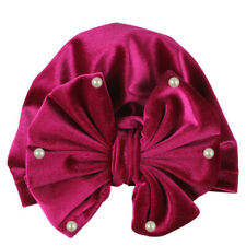 Newborn Baby Boy Girl pearl Pleuche Knotted Hat Warm Bowknot Beanie Headwear Cap