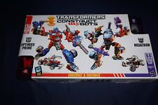 TRANSFORMERS CONSTRUCT-BOTS MEGATRON OPTIMUS PRIME 2-PACK HASBRO ACTION FIGURES