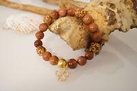 Damenarmband Armband Edelsteine handgefertigt Goldfluss