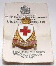"Vintage British Red Cross Society "" Branch "" Enamel Badge"