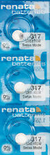 3 x Renata 317 Watch Batteries, SR516SW Battery   Shipped from Canada